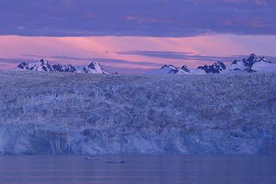 Chenega Glacier At Sunrise Art Print by Tim Grams
