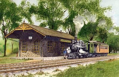 Cheneyville Station Art Print