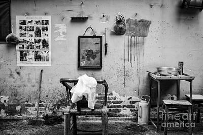 Photograph - Chengdu Street Barber by Dean Harte