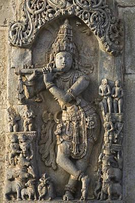 Hindu Goddess Photograph - Chennakesava Temple by Maria Heyens