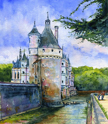 Painting - Chenonceau Castle France by John D Benson