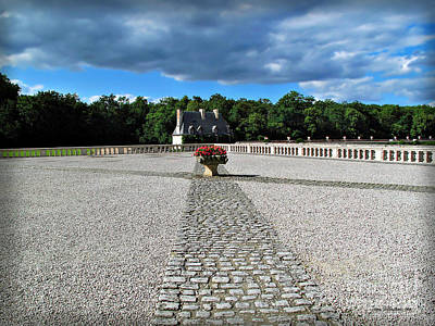 Catherine De Medici Photograph - Chenonceau Pathway by Joan  Minchak