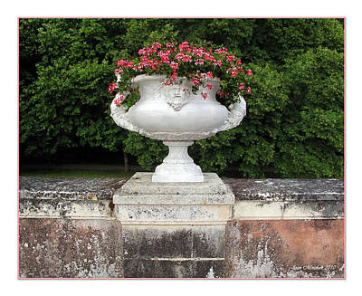 Photograph - Chenonceau Urn by Joan  Minchak