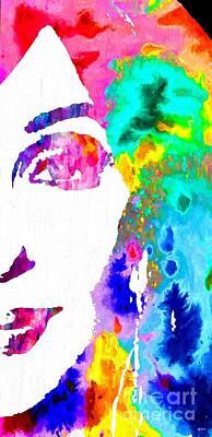 Disco Mixed Media - Cher 2014 Grunge by Daniel Janda