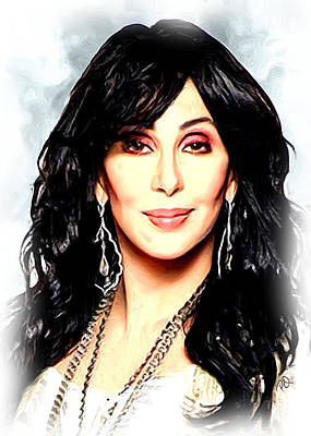 Blockbuster Painting - Cher by Paul Quarry