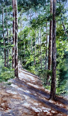 Painting - Cheraw Trail by Mary McCullah