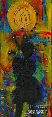 Mixed Media - Cherished Thoughts Of You by Angela L Walker