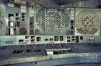Meltdown Photograph - Chernobyl Reactor 4 Control Panel by Patrick Landmann