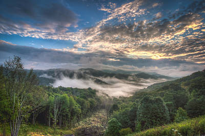 Photograph - Cherohala Sunrise by Alex Banakas
