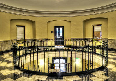 Cherokee County Photograph - Cherokee County Courthouse Second Floor by Greg Mimbs