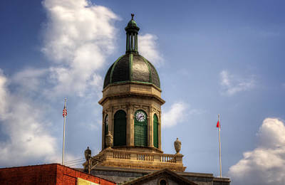 Photograph - Cherokee County Nc Courthouse Cupola by Greg Mimbs