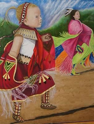 Cherokee Ribbon Dancers Art Print