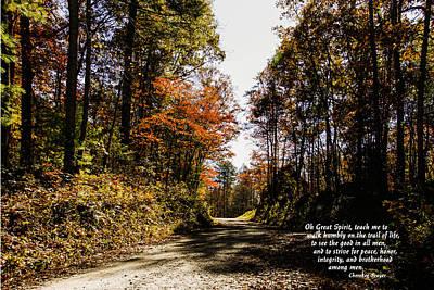 Cherokee Trail Art Print by Marilyn Carlyle Greiner