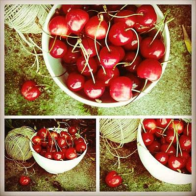 Yummy Photograph - Cherries by Emanuela Carratoni