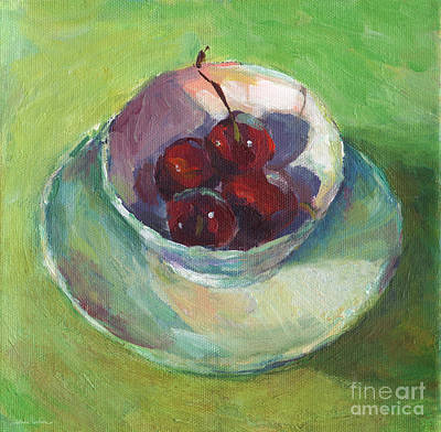 Painting - Cherries In A Cup #2 by Svetlana Novikova