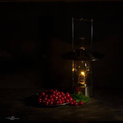 Cherries In The Night Art Print