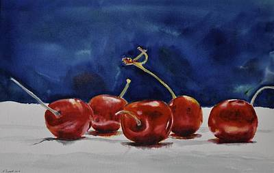 Painting - Cherries by Kathy Flood