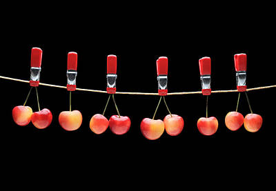 Photograph - Cherries by Krasimir Tolev