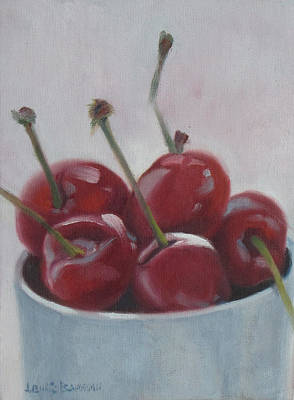 Painting - Cherries by Lewis Bowman