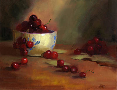 Painting - Cherries by Susan Thomas