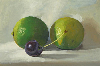 Painting - Cherry And Limes by Peter Orrock