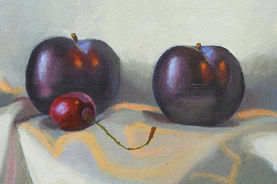 Painting - Cherry And Plums by Peter Orrock