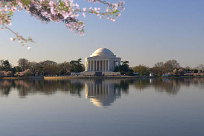 Photograph - Cherry Blossom And Jefferson Memorial by Willie Harper