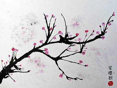 Painting - Cherry Blossom  by Andrea Realpe