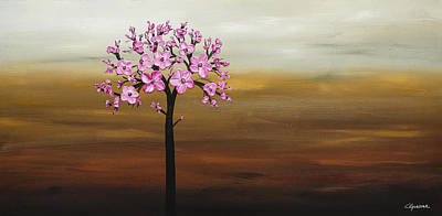 Cherry Blossoms Painting - Cherry Blossom by Carmen Guedez