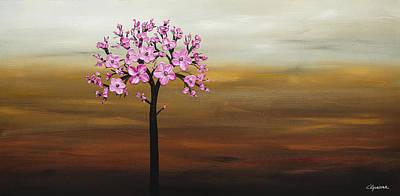 Cherry Blossom Art Print by Carmen Guedez