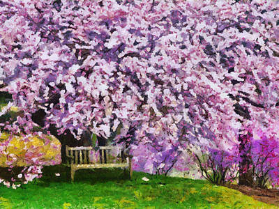 Art Print featuring the painting Cherry Blossom by Georgi Dimitrov