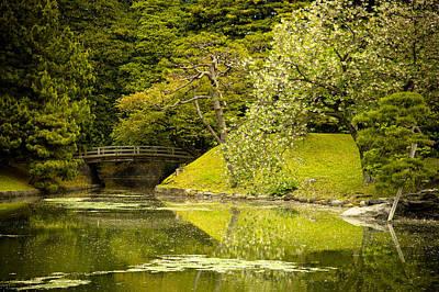 Photograph - Cherry Blossom Japanese Garden by Sebastian Musial