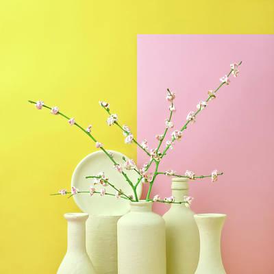 Photograph - Cherry Blossom Popcorn In Monochromatic by Juj Winn