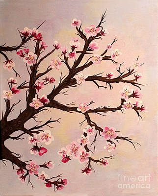 Cherry Blossoms 2 Print by Barbara Griffin