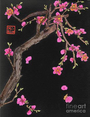 Photograph - Cherry Blossoms  Chinese Watercolor Painting by Merton Allen