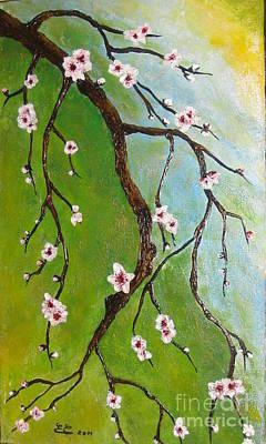 Cherry Blossoms Art Print by Elena  Constantinescu