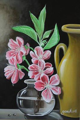 Cherry Blossoms Art Print by Gani Banacia