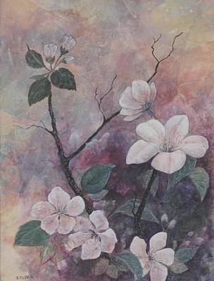 Painting - Cherry Blossoms In The Cosmos by Sandy Clift