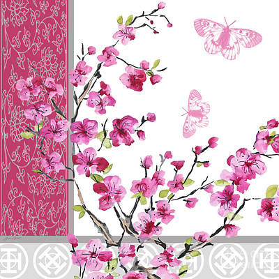 Cherry Blossoms Painting - Cherry Blossoms-jp2329 by Jean Plout