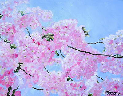 Cherry Blossoms Print by Melissa Torres