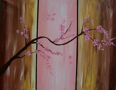 Cherry Blossoms Art Print by Monica Art-Shack
