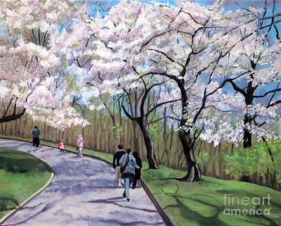 Painting - Cherry Blossoms No 1 by Joan McGivney
