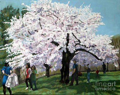 Painting - Cherry Blossoms  No 2 by Joan McGivney