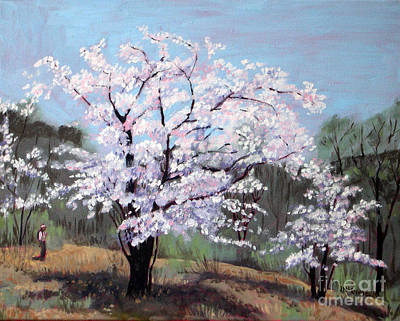 Painting - Cherry Blossoms  No 3 by Joan McGivney