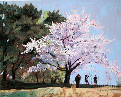 Painting - Cherry Blossoms  No 4 by Joan McGivney
