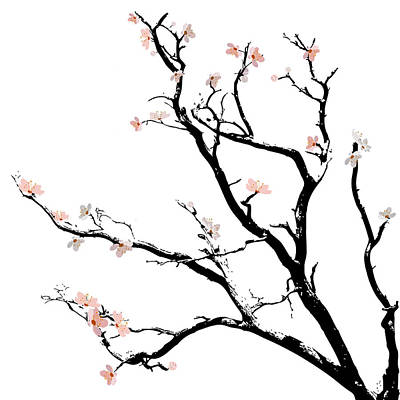 Cherry Blossoms Tree Art Print by Gina Dsgn