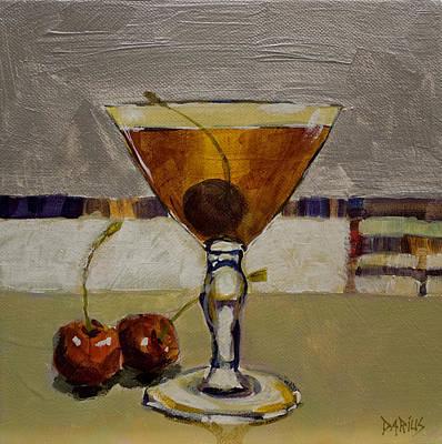 Martini Paintings - Cherry Bomb by Sue  Darius