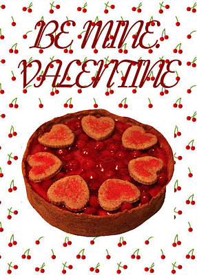 Painting - Valentine Cherry Cheesecake  by Ruth Soller