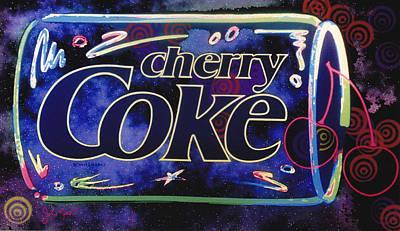 Digital Art - Cherry Coke 8 by John Keaton