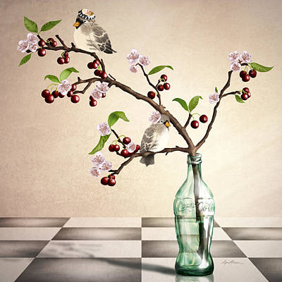Finch Digital Art - Cherry Coke by April Moen